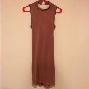 Women's pink suede dress